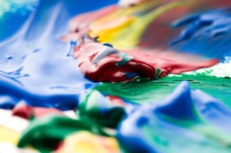 mixing paints. backrgound Stock Photo - 7814524