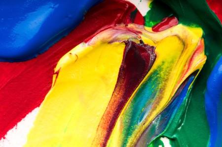 mixing paints. backrgound photo