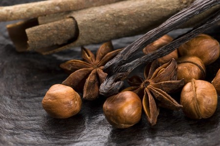 aromatic spices with brown sugar and nuts Stock Photo - 7649427