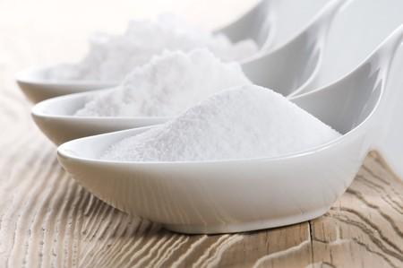 drei Löffel mit Difrent Salz