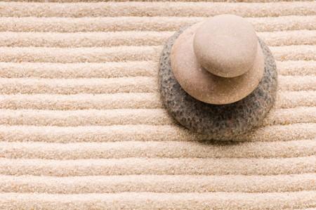Zen. Stone et sable  Banque d'images