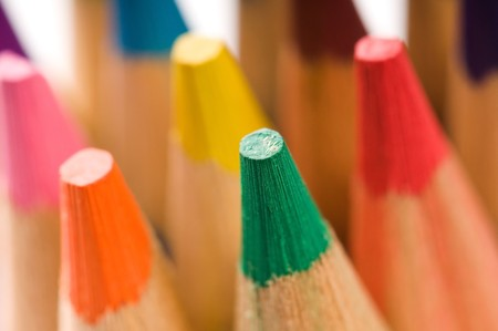 Collection of colorful pencils Stock Photo - 7879705