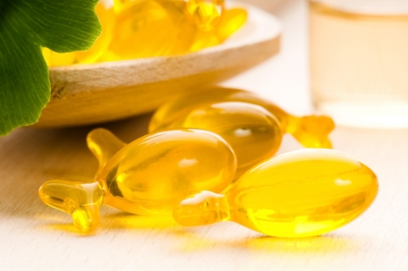 consolidate: ginko biloba essential oil with fresh leaves - beauty treatment