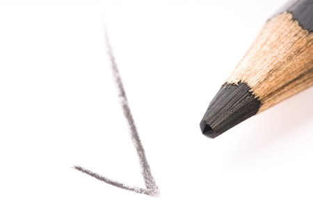 pencil writing on white paper Stock Photo - 7879719