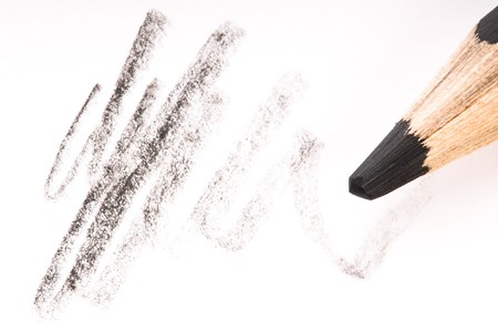 pencil writing on white paper Stock Photo - 7879734