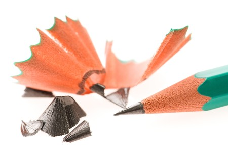 Pencil and shavings Stock Photo - 7879730