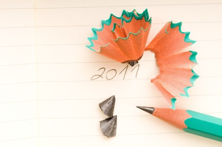 New Year and sharp Pencil photo