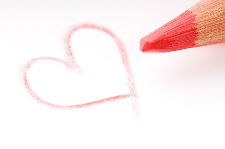 pencil writing on white paper  Stock Photo - 8656230