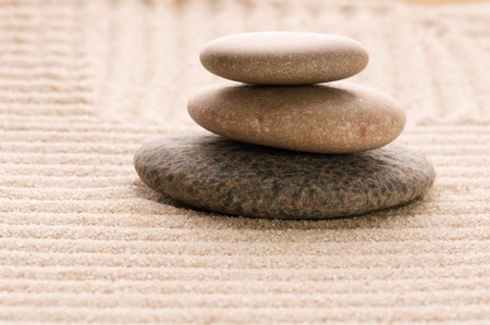 Zen. Stone and sand photo