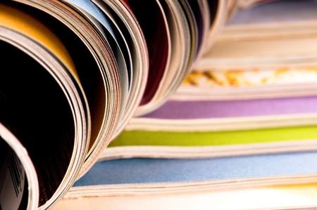 periodical: Stack of magazines