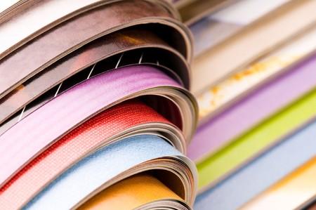 stack of magazines  photo