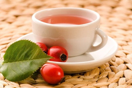 rose hip tea photo
