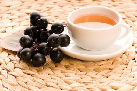 Black chokeberry tea photo