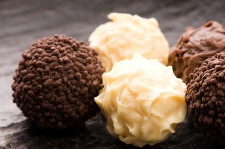 chocolate truffles assortment photo