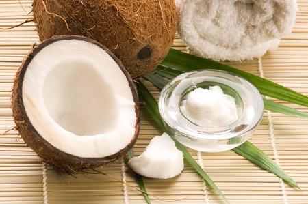 Coconut and coconut oil Stock Photo - 8178018