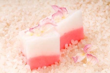 Japanese dessert, Mochi with rose photo