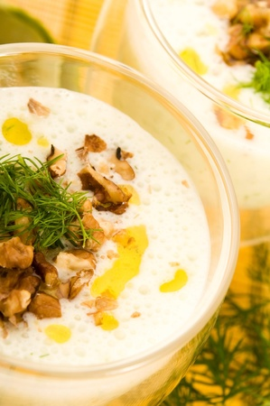 Tarator - traditional bulgarian cold summer soup photo