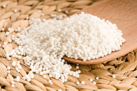 white tapioca pearls