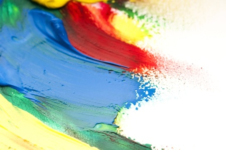 mixing paints. background  photo