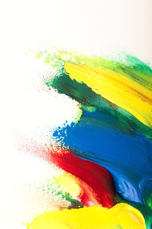 primary colours: mixing paints. background