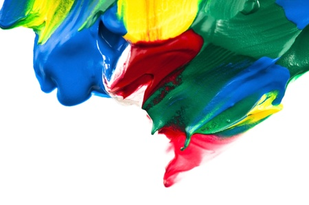 paints on the white paper Stock Photo - 10463729