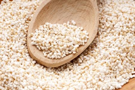 Amaranth popping, gluten-free, high protein grain cereal photo