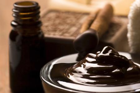 シナモン チョコレート ・ スパ 写真素材
