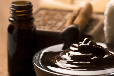 Chocolate spa with cinnamon Stock Photo - 13007459