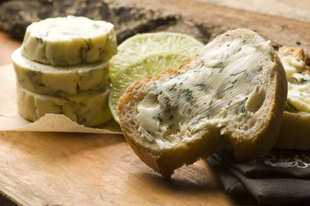 Herbs butter with lime photo