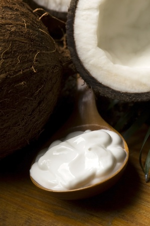 Coconut and coconut oil Stock Photo - 13432884