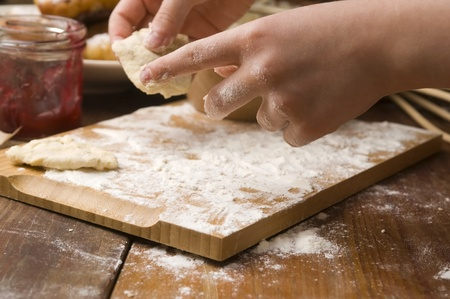 Detail of hands kneading dough Stock Photo - 13478604