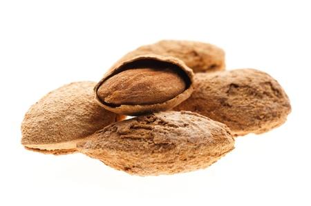 Sweet almonds with kernel  Zdjęcie Seryjne