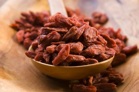 goji: Red dried goji berries