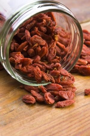 Red dried goji berries photo