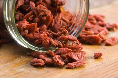 Red dried goji berries photo