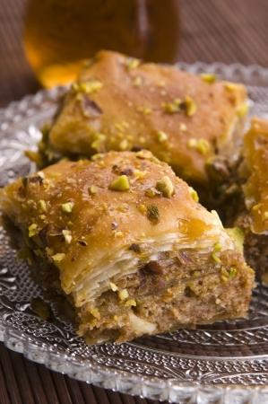 バクラヴァ - 伝統的な中東の甘味デザート 写真素材