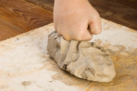 Child Händen eines Töpfers Standard-Bild - 14641224