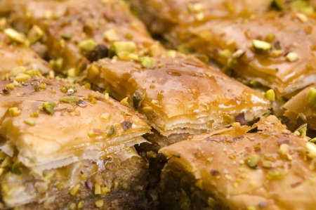 Baklava - traditional middle east sweet desert photo