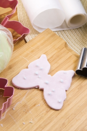 childchood: Homemade frosting decoration Stock Photo