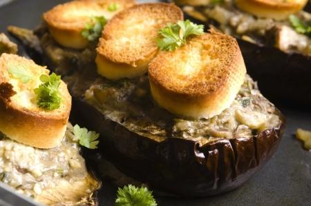 Baked stuffed eggplant Stock Photo - 16901683