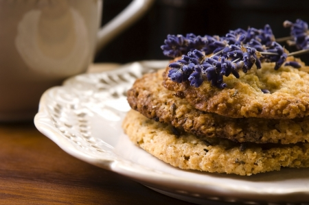 Handmade lavender cookies photo