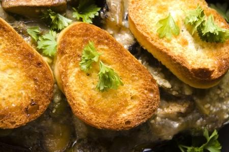 Baked stuffed eggplant photo
