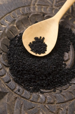 Nigella seeds photo
