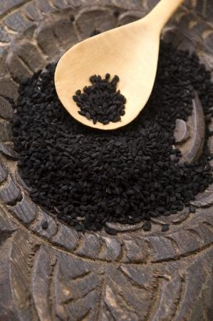 nigella seeds: Nigella seeds Stock Photo