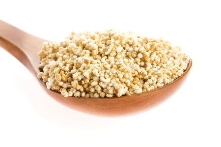 Amaranth popping, gluten-free, high protein grain cereal photo