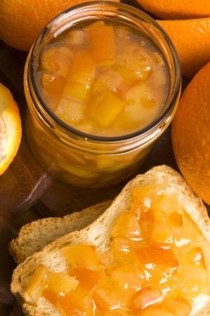 Homemade orange Jam photo