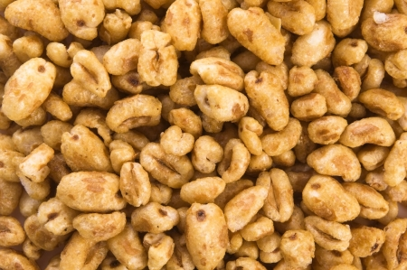 popped: Popped wheat grains