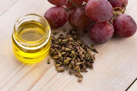 grape seed oil  写真素材