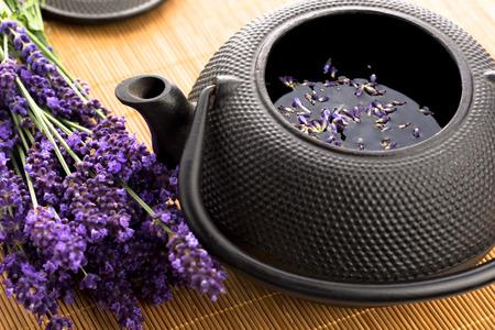 yellow tea pot: Lavender tea