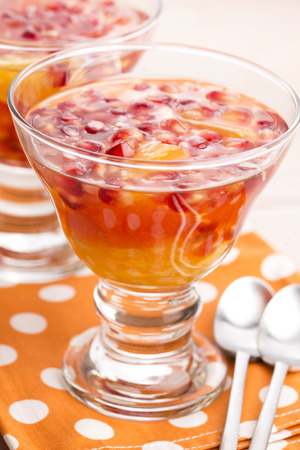 gelatine: jelly sweets with citrus fruits